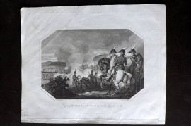 Lyttleton 1811 Antique Print. Defeat of the French on the Island of Sicily